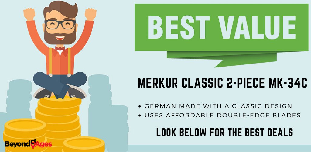 The Merkur Classic 2-piece offered the best value men's razor for black men