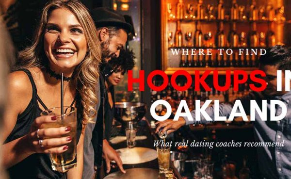 Woman laughing as she looks for Oakland hookups