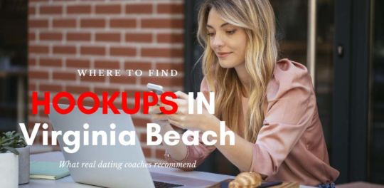 Woman looking for Virginia Beach hookups online on a patio