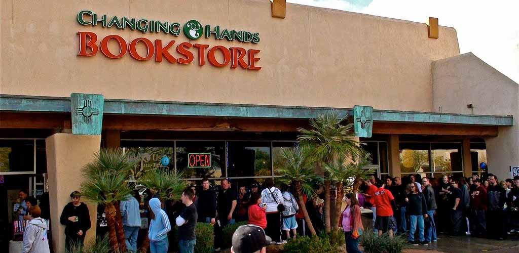 People hanging out at Changing Hands Bookstore