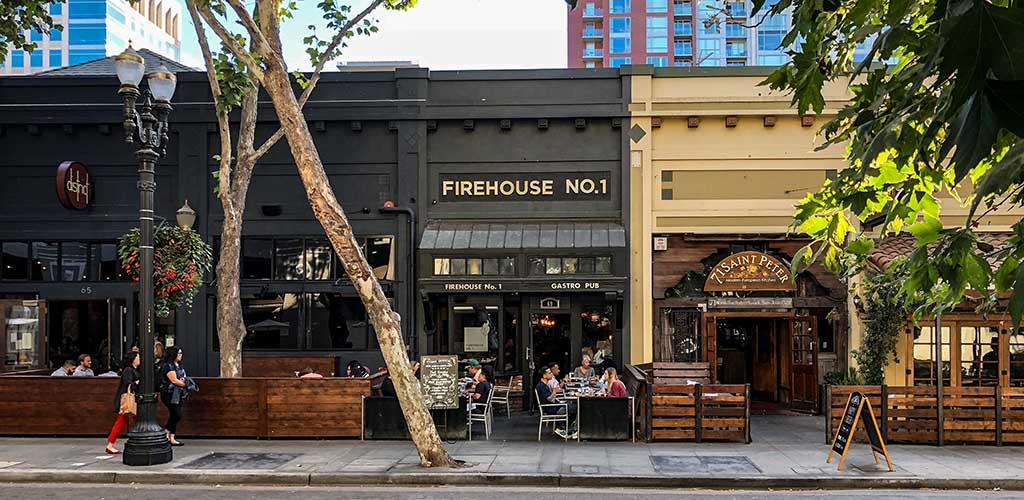 The exterior of Firehouse No 1. Gastropub