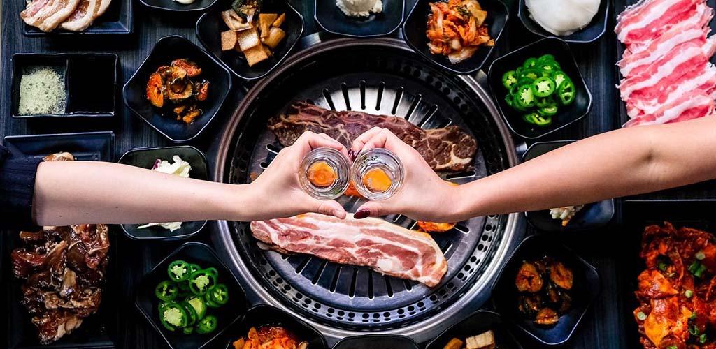 Korean barbecue with shots at Gen Korean BBQ