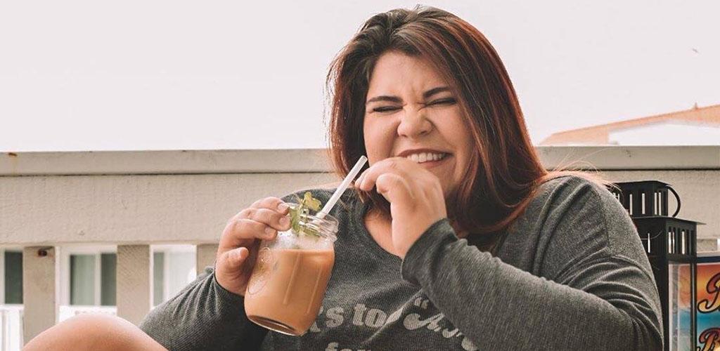 A BBW in San Jose enjoying her coffee from Philz Coffee