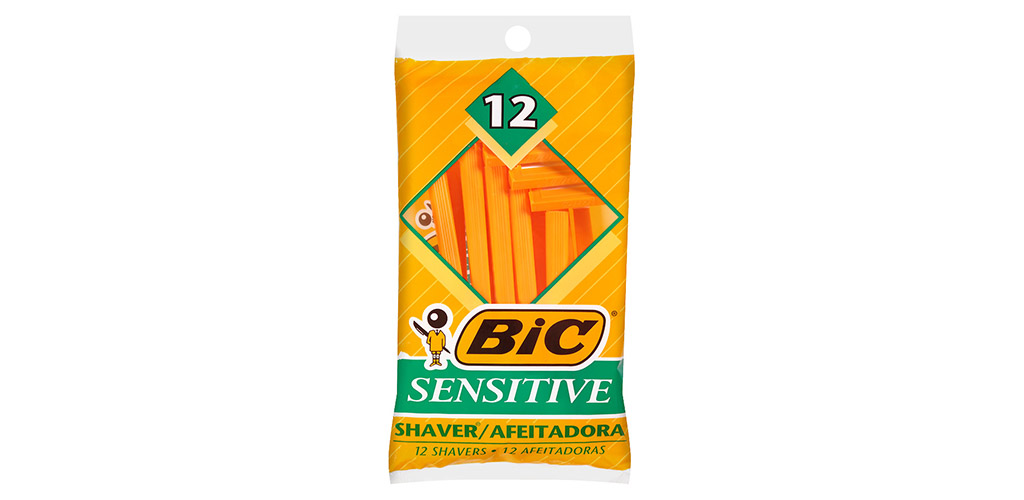 The BIC Sensitive Single Blade Shaver is the Best Budget Men's Razor for Those with Acne Prone Skin