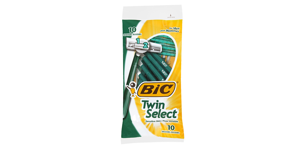 The BIC Twin Select Men's Disposable Razor is the Best Budget Disposable Razors for Beginners
