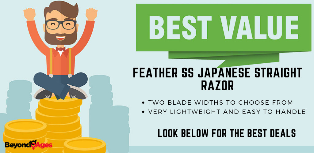 The Feather SS Japanese Straight Razor is the best value straight razor to prevent ingrown hairs and razor bumps