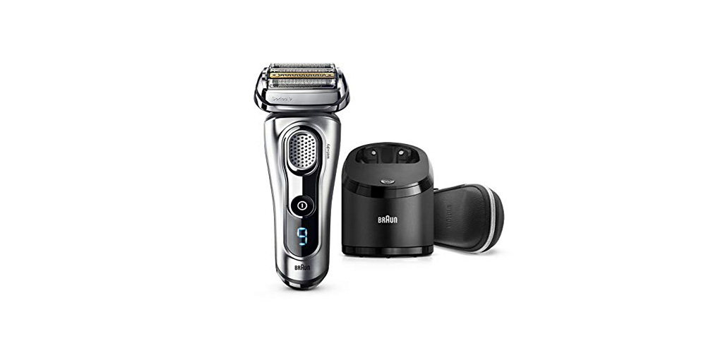The Braun Electric Shaver, Series 9 9290cc is the top rated electric shaver for coarse hair