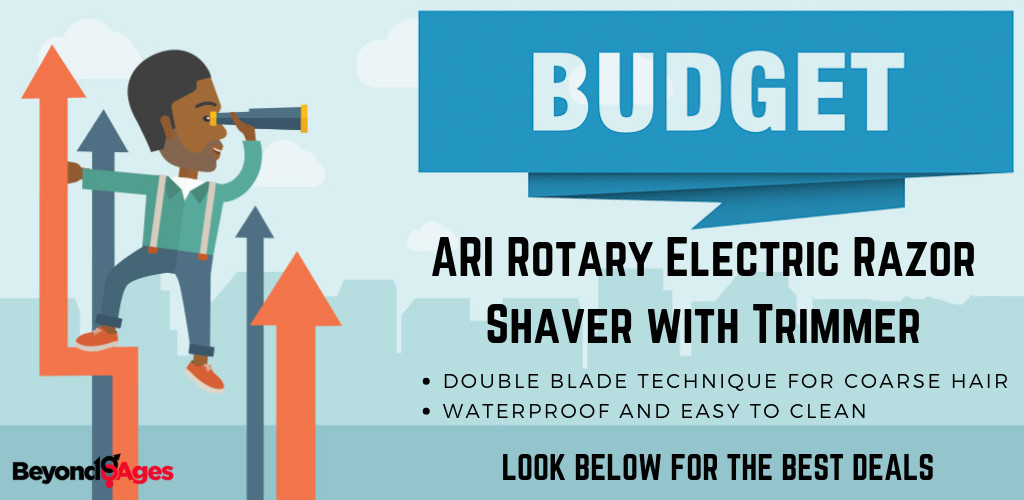 The ARI Rotary Electric Shaver with Trimmer is the best budget electric razor for coarse hair
