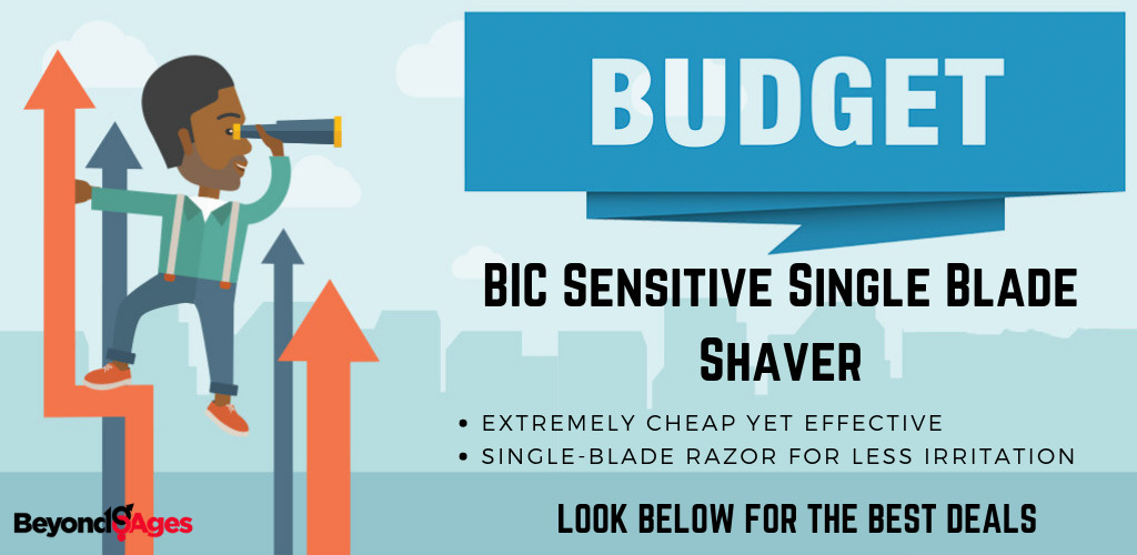 The BIC Sensitive Skin Single Blade Shaver is the best budget men's razor for those with acne prone skin