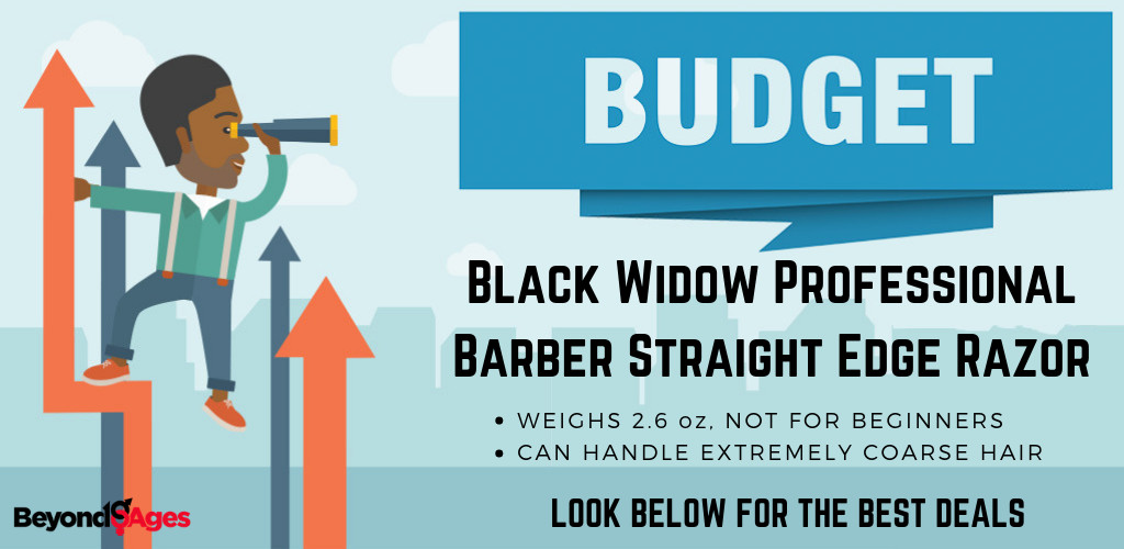 The Black Widow Professional Barber straight razor is the budget straight razor to prevent ingrown hairs and razor bumps
