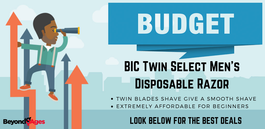 The BIC Twin Select Men's Disposable Razor is the best budget disposable razor for beginners