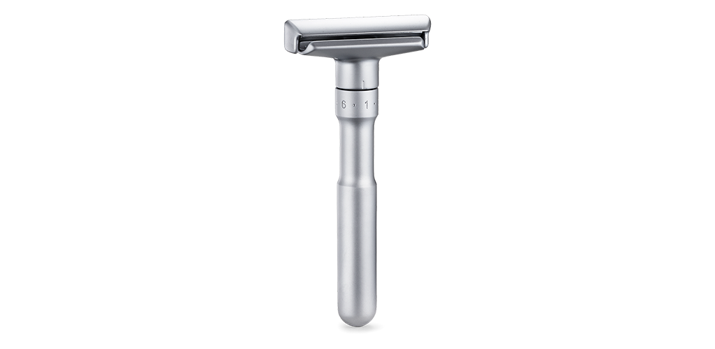 The Merkur Futur Adjustable Double Edge Safety Razor is the Top Rated Safety Razor for Sensitive Skin