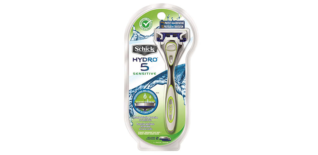 The Schick Hydro 5 Sensitive Skin Razor is the Best Value Men's Razor for Those with Acne Prone Skin