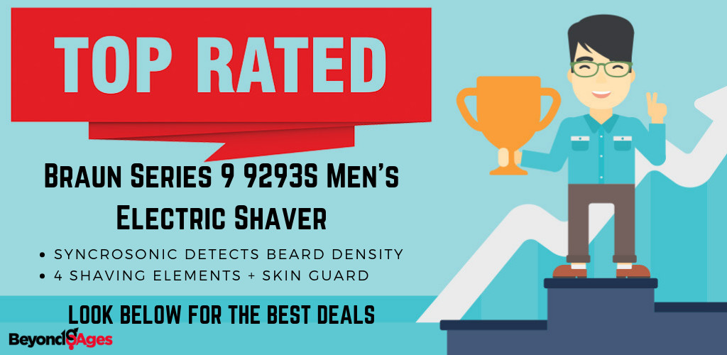 The Braun Series 9 9293S Men's Electric Shaver is the top-rated electric razor for coarse hair