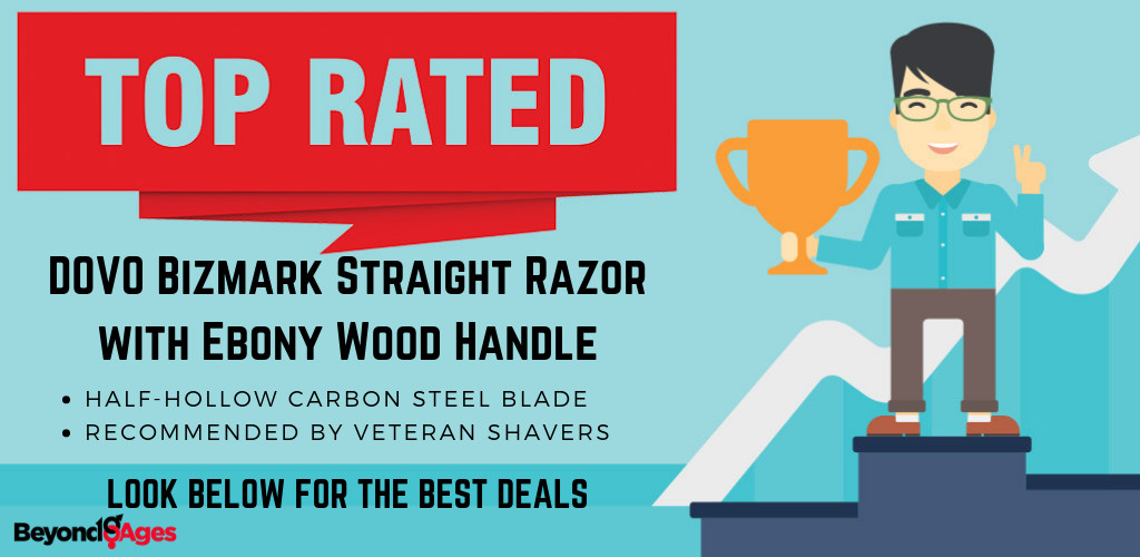 The DOVO Bizmark Straight Razor with Ebony Wood Handle is the top rated straight razor to prevent ingrown hairs and razor bumps