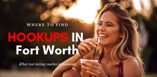 A woman at a park searching for Fort Worth hookups