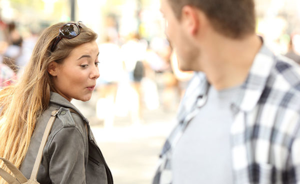 Woman looking at a man who knows how to be desireable