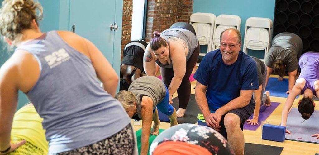 A fun class at 502 Power Yoga