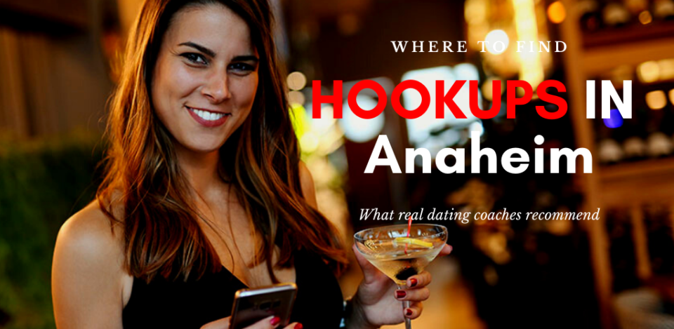 A girl texting at the bar and searching for Anaheim hookups