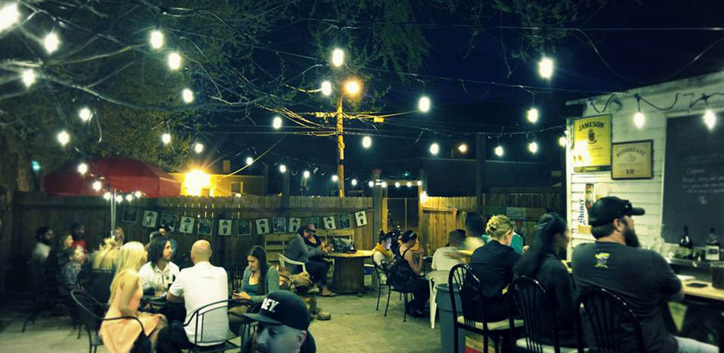 The patio of Alchemy Pub