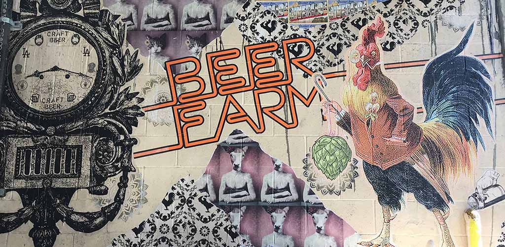 A mural outside of Beerfarm; a great place to find plenty of Riverside hookups