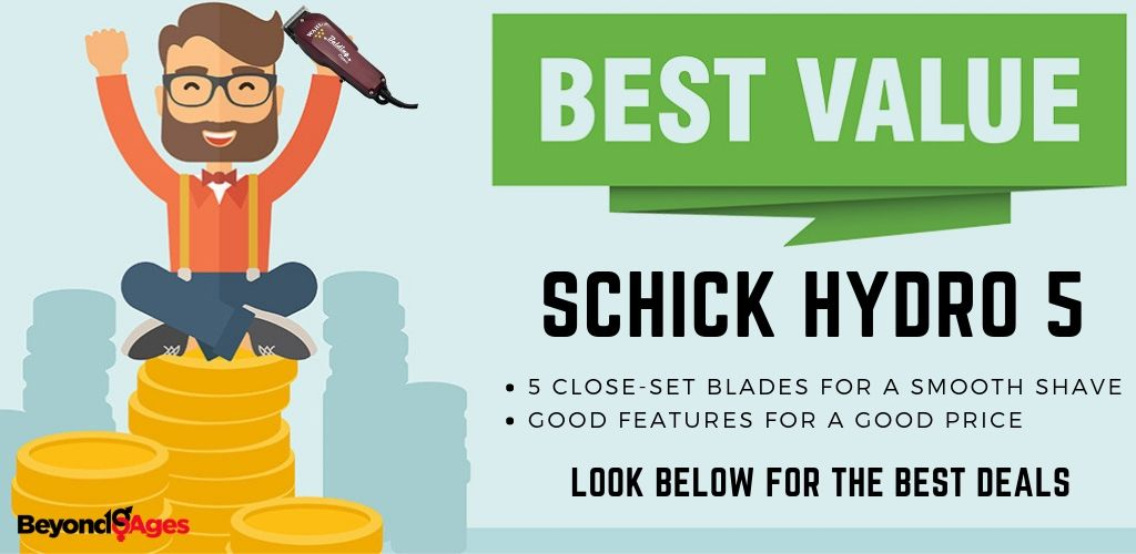 Schick Hydro 5 is the best value disposable razor for sensitive skin
