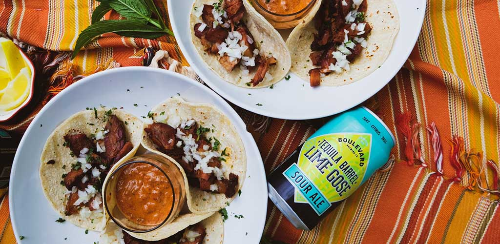 Tacos and a signature brew from Boulevard Brewing Company