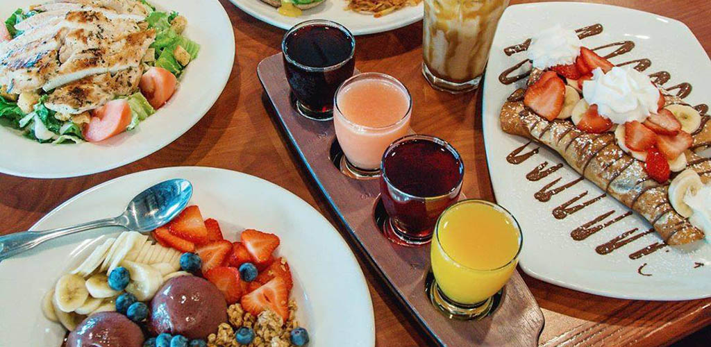 Shots and food from Broken Yolk Cafe