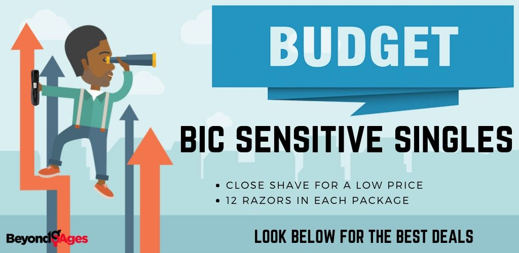 Bic Sensitive Single Blade Shaver is the best for budget disposable razor for sensitive skin