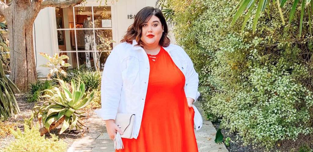 A curvy woman in an outfit from Catherine's