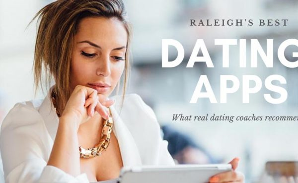 Classy woman using the best dating apps and sites in Raleigh on her tablet