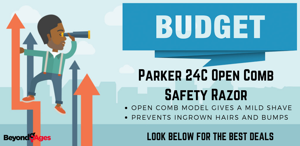 The Parker 24C Open Comb Double Edge Safety Razor is the Best Budget Safety Razor for Black Men