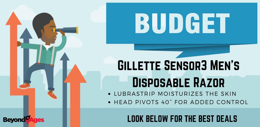 The Gillette Sensor3 Men's Disposable Razor is the Best Budget Disposable Razor for Black Men