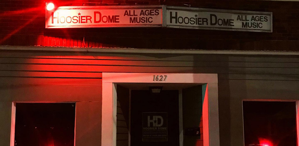 The unassuming entrance to Hoosier Dome