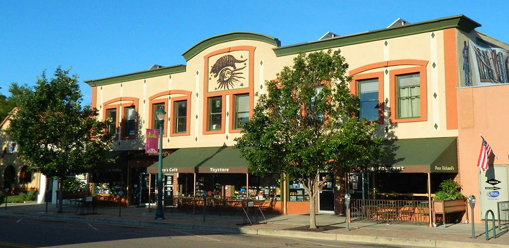 Exterior of Poor Richards Downtown/Rico's Cafe and Wine Bar