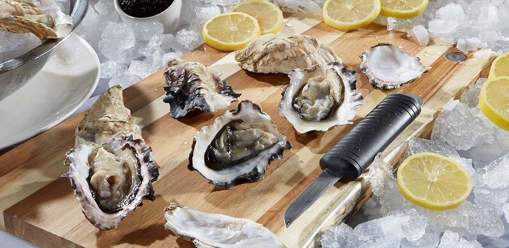 Fresh oysters from Portland City Grill