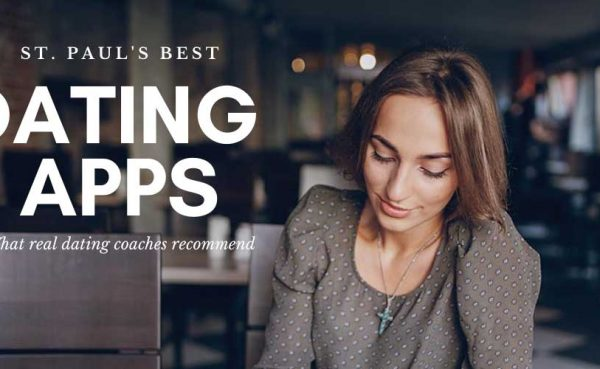 Pretty woman at a restaurant checking out the best St. Paul dating apps and sites