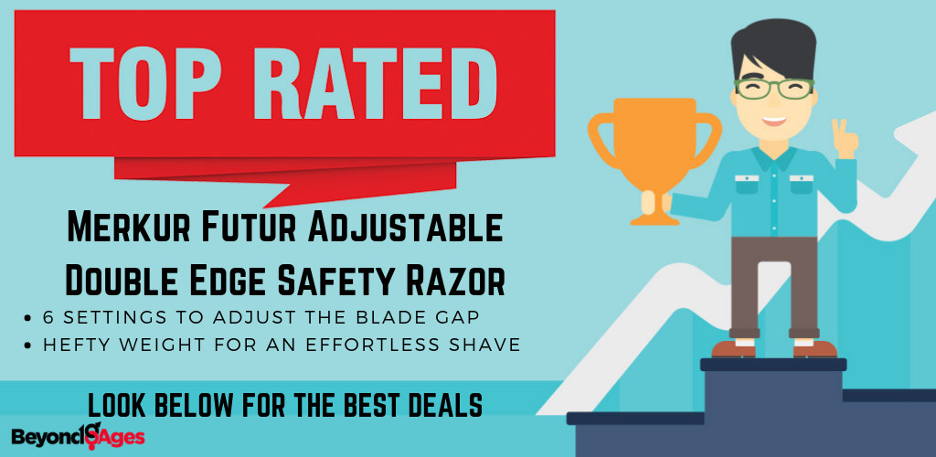The Merkur Futur Adjustable Double Edge Safety Razor is the Top Rated Safety Razor