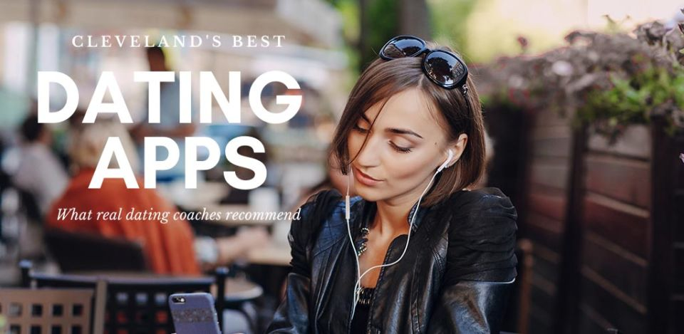 Woman at a beer garden using the best dating apps and sites in Cleveland