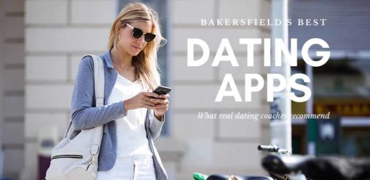 Woman in sunglasses trying out the best dating apps and sites in Bakersfield