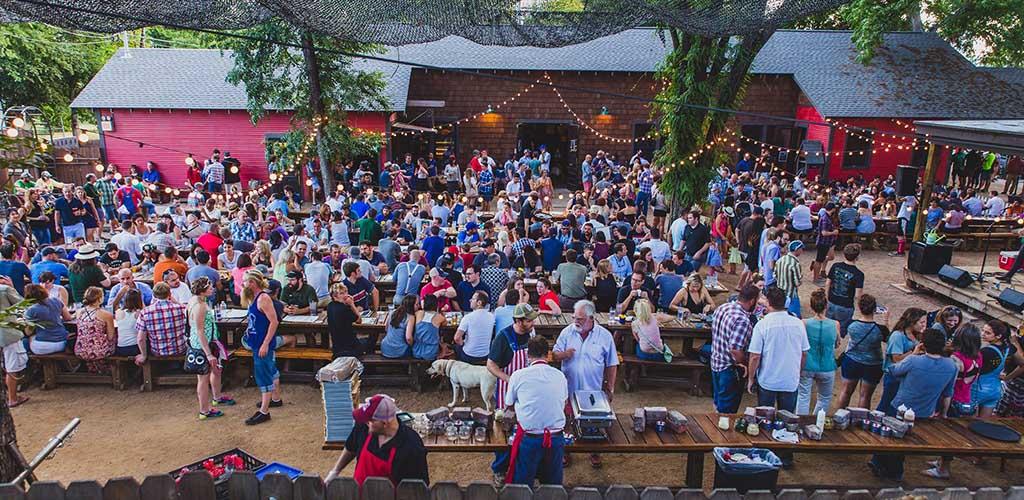 Bangers Sausage House & Beer Garden outdoor gathering