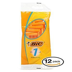 BIC Sensitive Single Blade Shaver is the best budet disposable razor for sensitive skin