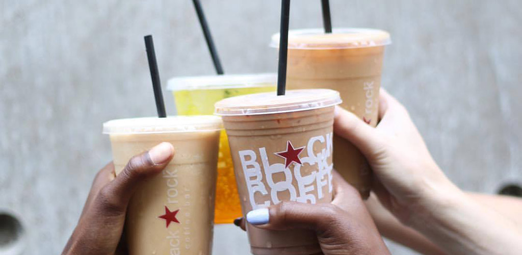Iced coffees from Black Rock Coffee Bar