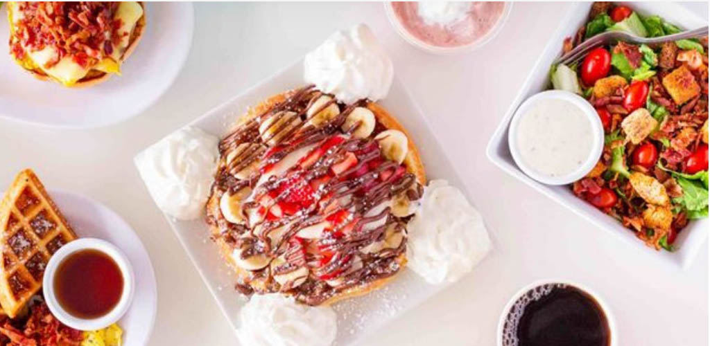 Breakfast dishes from BrewBerry Cafe