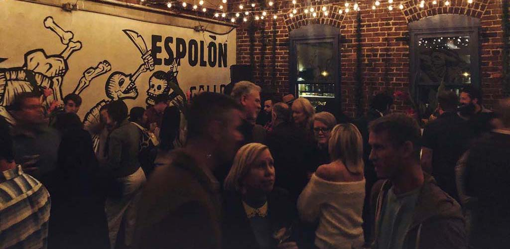 A busy crowd at Gallo Pelon