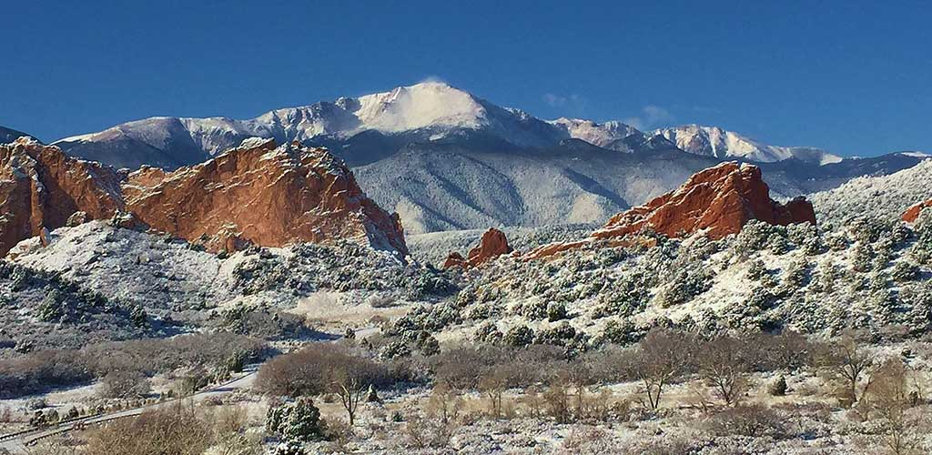 The view from Garden of the Gods
