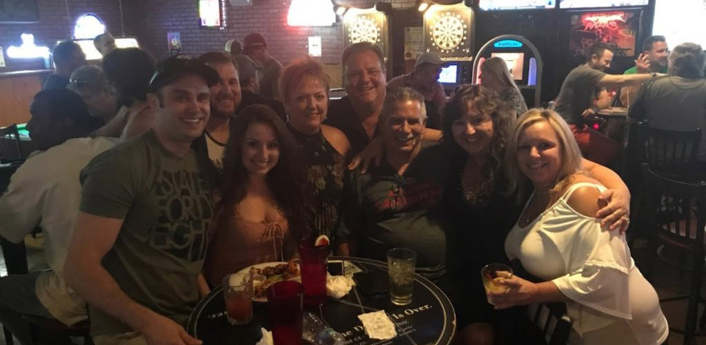 A group of friends at O'Kelley's Bar