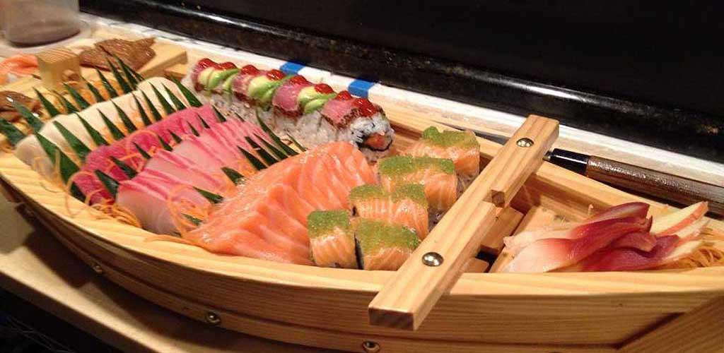 Sushi platter from Orchid