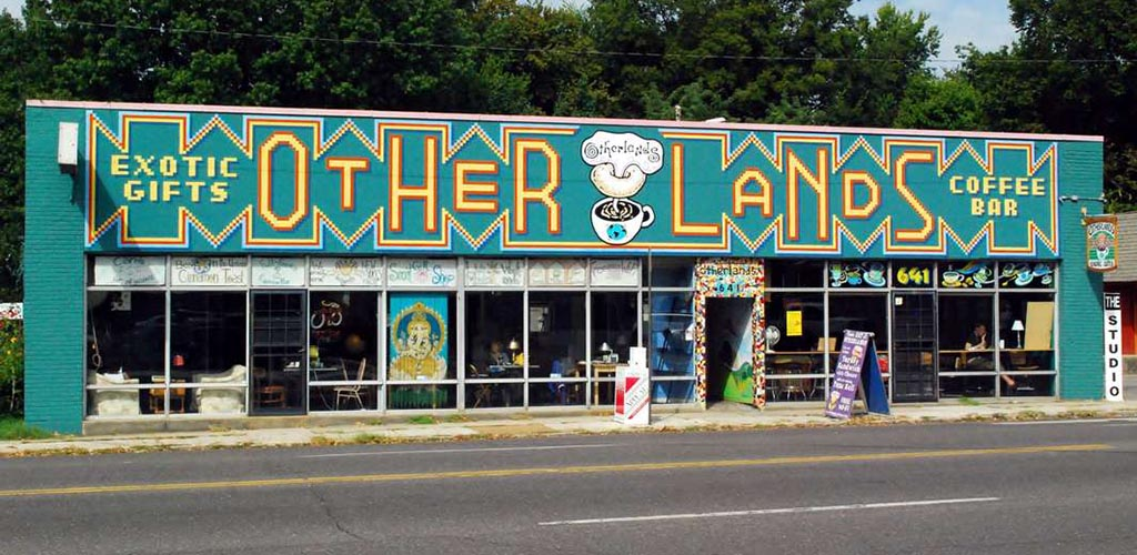 The quirky exterior of Otherlands Coffee