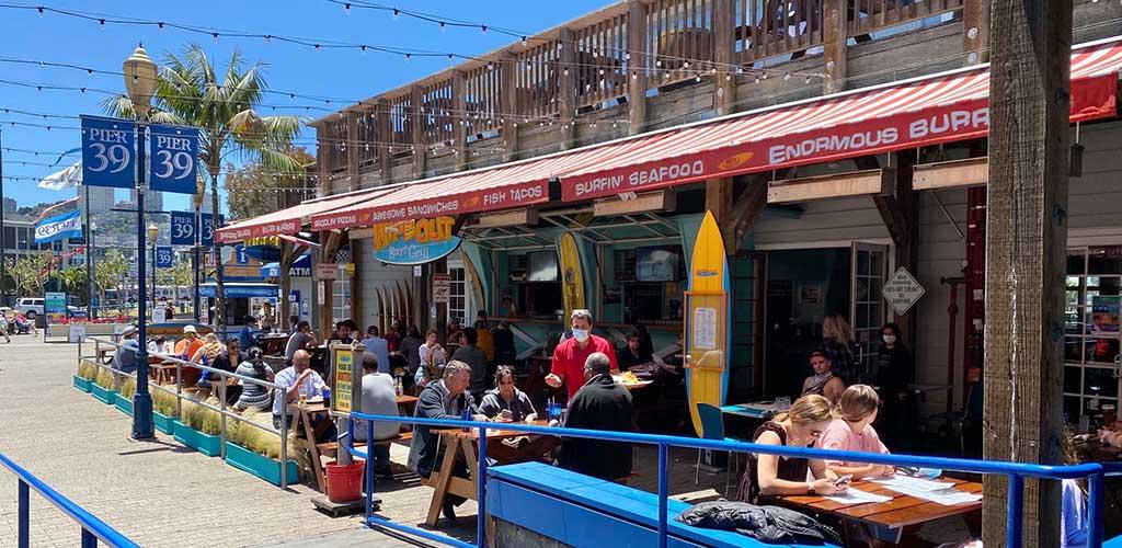 The patio of Pier 39